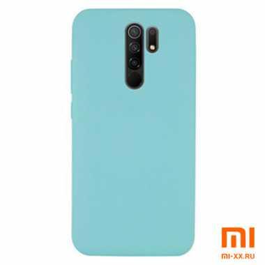 Силиконовый бампер Silicone Case для Xiaomi Redmi 9 (Мятный)