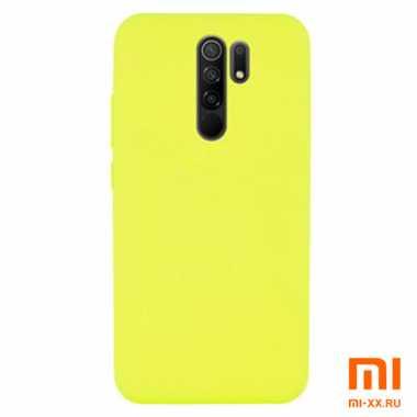 Силиконовый бампер Silicone Case для Xiaomi Redmi 9 (Желтый)