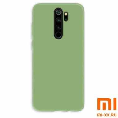 Силиконовый бампер Silicone Case для Xiaomi Redmi 9 (Зеленый)