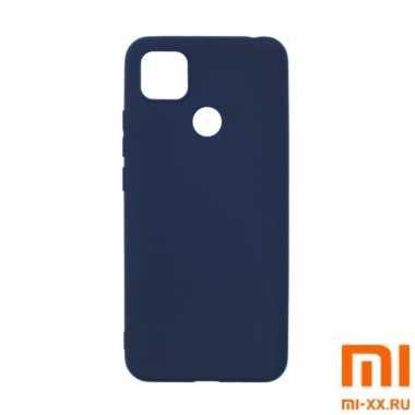 Силиконовый бампер Silicone Case для Xiaomi Redmi 9C (Синий)