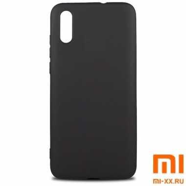 Силиконовый бампер Silicone Case для Xiaomi Redmi 9A (Черный)