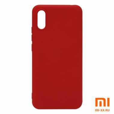 Силиконовый бампер Silicone Case для Xiaomi Redmi 9A (Красный)