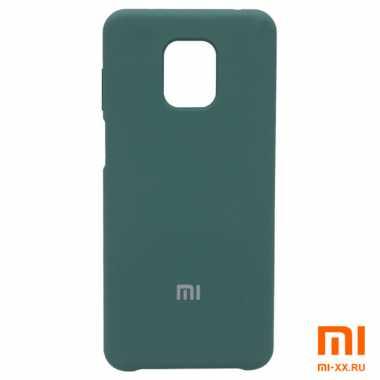 Силиконовый бампер Silicone Case для Xiaomi Redmi Note 9 (Зеленый)