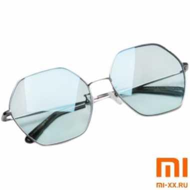 Солнцезащитные Очки TS Sunglasses Six Lines Shape Romb (Blue)