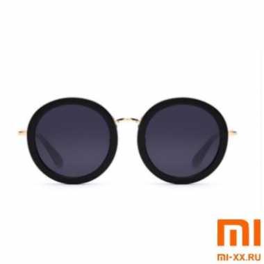Солнцезащитные Очки TS Vintage Round Frame Woman Sunglasses (Black)