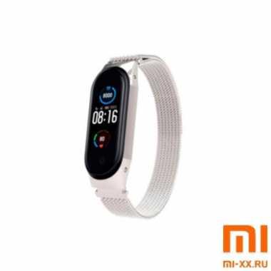 Ремешок миланское плетение Xiaomi Mi Band 5 (Silver)