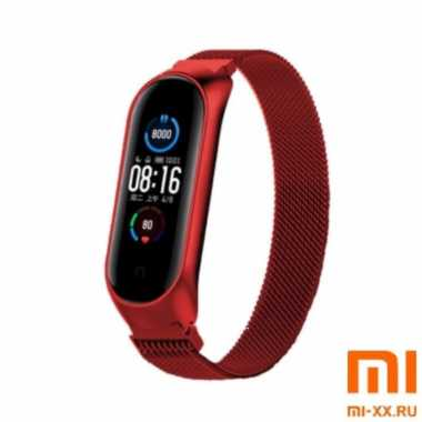 Ремешок миланское плетение Xiaomi Mi Band 5 (Red)