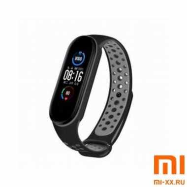 Ремешок Xiaomi Mi Band 5 Nike Design (Black/Grey)