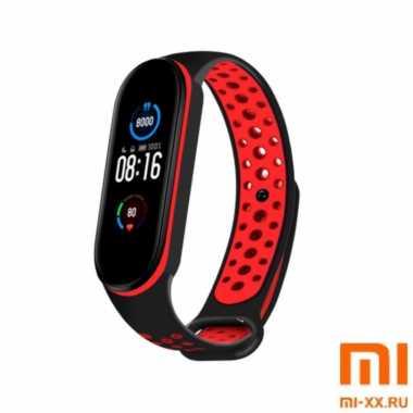 Ремешок Xiaomi Mi Band 5 Nike Design (Black/Red)