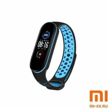 Ремешок Xiaomi Mi Band 5 Nike Design (Black/Blue)