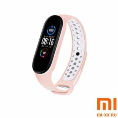Ремешок Xiaomi Mi Band 5 Nike Design (Beige/White)