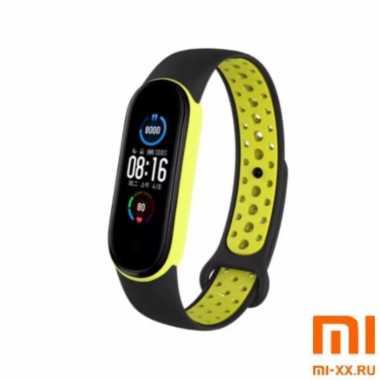 Ремешок Xiaomi Mi Band 5 Nike Design (Black/Yellow)