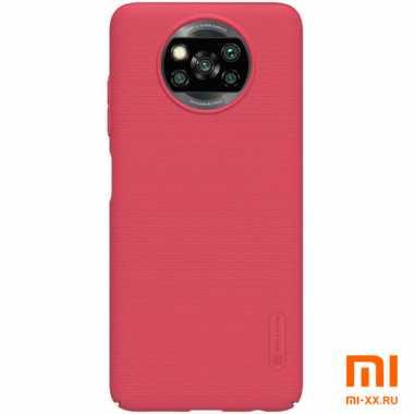 Чехол бампер Nilkin пластиковый для POCO X3 (Red)