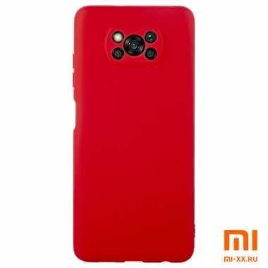 Чехол бампер силиконовый для POCO X3 (Red)