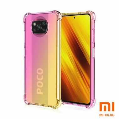 Чехол бампер силиконовый Fashion для POCO X3 (Rose Gold)
