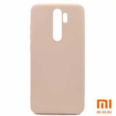 Чехол бампер Silicone Case для Xiaomi Redmi Note 8 Pro (Beige)