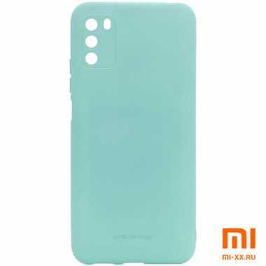 Чехол бампер силиконовый для Xiaomi POCO M3 (Mint)