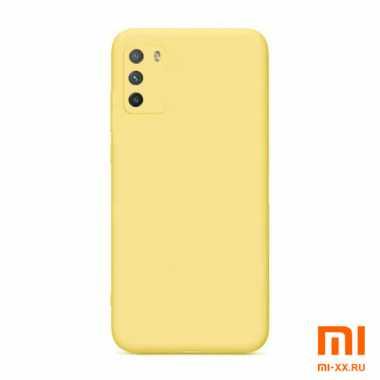 Чехол бампер силиконовый для Xiaomi POCO M3 (Yellow)