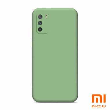 Чехол бампер силиконовый для Xiaomi POCO M3 (Green)