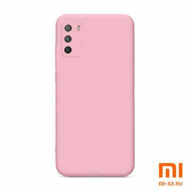 Чехол бампер силиконовый для Xiaomi POCO M3 (Pink)