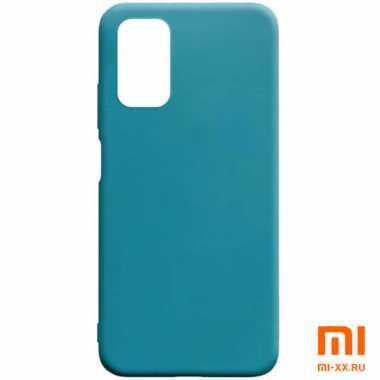 Чехол бампер Silicone Case для Xiaomi POCO M3 (Mint)