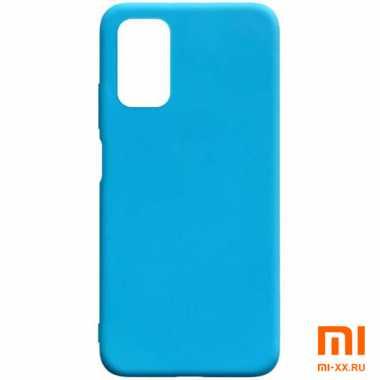 Чехол бампер Silicone Case для Xiaomi POCO M3 (Light Blue)