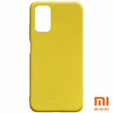 Чехол бампер Silicone Case для Xiaomi POCO M3 (Yellow)
