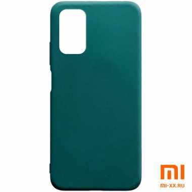 Чехол бампер Silicone Case для Xiaomi POCO M3 (Green)