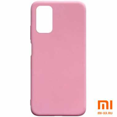 Чехол бампер Silicone Case для Xiaomi POCO M3 (Pink)