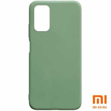 Чехол бампер Silicone Case для Xiaomi POCO M3 (Light Green)