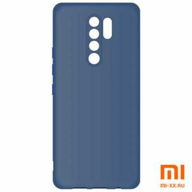 Силиконовый бампер Borasco для Redmi 9 (Blue)