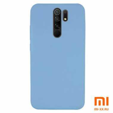Силиконовый бампер Silicone Case для Xiaomi Redmi 9 (Голубой)