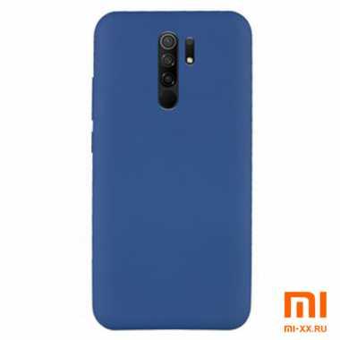 Силиконовый бампер Silicone Case для Xiaomi Redmi 9 (Синий)