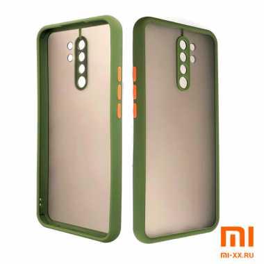 Силиконовый бампер с матовой крышкой для Redmi 9 (Light Green)