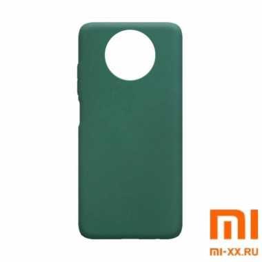 Чехол бампер Silicone Case для Redmi Note 9T (Green)