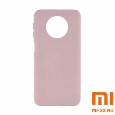 Чехол бампер Silicone Case для Redmi Note 9T (Beige)