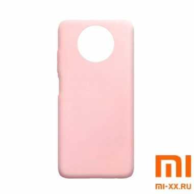 Чехол бампер Silicone Case для Redmi Note 9T (Pink)