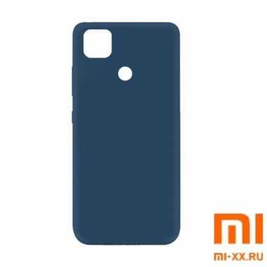 Чехол бампер Silicone Case для Redmi 9C (Blue)