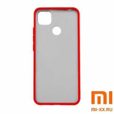 Силиконовый бампер с матовой крышкой для Redmi 9C (Red)
