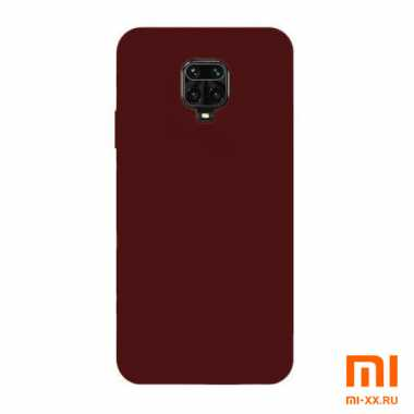 Чехол бампер Silicone Case для Redmi Note 9S/ Redmi Note 9 Pro (Burgundy)