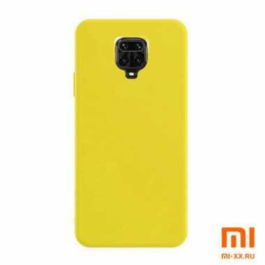 Чехол бампер Silicone Case для Redmi Note 9S/ Redmi Note 9 Pro (Yellow)