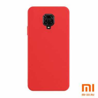Чехол бампер Silicone Case для Redmi Note 9S/ Redmi Note 9 Pro (Red)