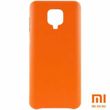 Чехол бампер Silicone Case для Redmi Note 9S/ Redmi Note 9 Pro (Orange)