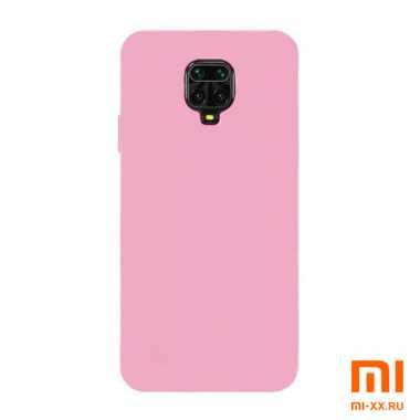 Чехол бампер Silicone Case для Redmi Note 9S/ Redmi Note 9 Pro (Pink)