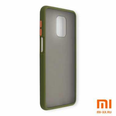 Силиконовый бампер с матовой крышкой для Redmi Note 9 Pro (Light Green)