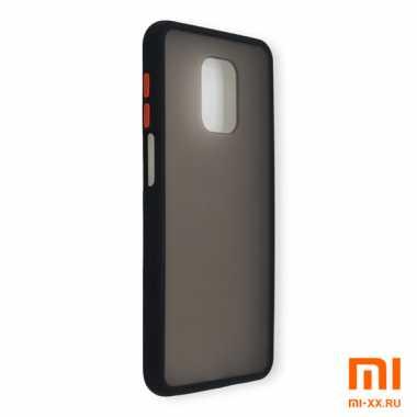 Силиконовый бампер с матовой крышкой для Redmi Note 9 Pro (Black)