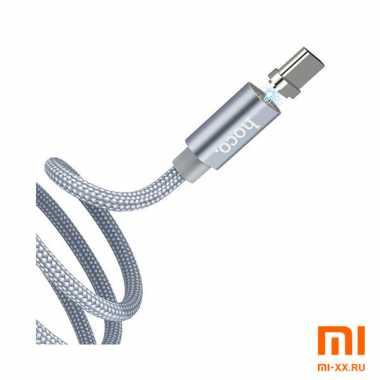 Магнитный кабель HOCO U40 Type-C 1м (Silver)