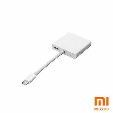 Адаптер Mi USB-C to HDMI and Gigabit Ethernet Multi-Adapter (White)