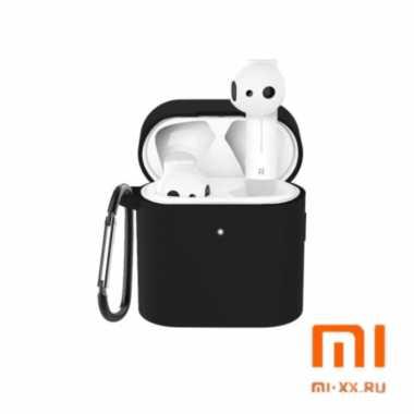 Силиконовый чехол для наушников Xiaomi Air Mi True Wireless Earphones 2 (Black)