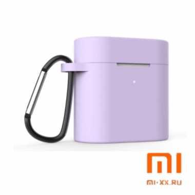 Силиконовый чехол для наушников Xiaomi Air Mi True Wireless Earphones 2 (Lilac)